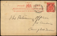 Lot 1077 [3 of 5]:Postal Card Selection with Queensland 1889-91 1d, 2d x2 & 3d unused, 1891-92 1½d unused, 1898 1d Views H&G #10 x4 used and one unused; Tasmania 1902 use of 1d Pink #7 uprated with ½d Tablet for transit to England, 1906 use of KEVII 1d from St Mary's to Campbell Town, also 1d + ½d Doublton unused; WA 1879 ½d & 1d and 1893 1½d on 'THREE PENCE' all unused; also South Australia 1d x2 (one used) plus ½d Wrapper unused; condition variable, many are fine. (19 items)