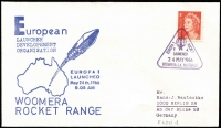 Lot 343 [2 of 4]:1966-67 Woomera Rocket Range European Launcher Development Organisation covers x4 (ELDO #1-4) all with typed addresses to Germany. (4)