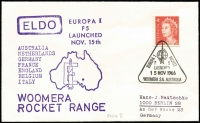 Lot 343 [3 of 4]:1966-67 Woomera Rocket Range European Launcher Development Organisation covers x4 (ELDO #1-4) all with typed addresses to Germany. (4)