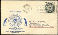 Lot 675:Easther (Max) 1954 3½d ANARE tied by Launceston '17NOV/1954' FDI slogan cancel to illustrated FDC, typed address.