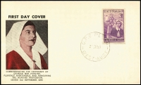 Lot 941:Guthrie 1955 Nursing tied by Perth '21SE55' FDI datestamp to FDC card.