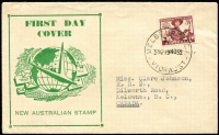 Lot 410:Haslem 1952 Scouts tied by Melbourne '19NO52' FDI datestamp with generic cachet in green, typed address.