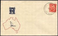 Lot 544:Sinclair 1948 2½d Farrer tied by Port Melbourne '12JY48' FDI datestamp to generic FDC. Fine unaddressed.