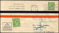 Lot 1044:1934 MacRobertson Air Race AAMC #434 cover signed by pilot Roscoe Turner, fine condition.