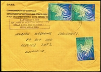 Lot 358:2000 Air Force Office in Malaysia OHMS airmail cover from Australian '324 Combat Support Squadron' based at RMAF Base Butterworth to Australia with 30s Global Knowledge Conference x3 tied by Butterworth datestamp.
