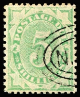 Lot 878 [1 of 2]:1902-04 Design Completed Wmk Crown/NSW ½d to 5/- between BW #D13-42, postal cancels, generally fine, Cat $380. (12)