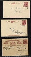 Lot 334 [1 of 3]:1910s-60s Collection in Ringbinder: predominantly KGV Sideface & KGVI era Postal Cards and Letter Cards; also KGV 1½d Red 'Star' Envelope with 1933 'RELIEF STAMP 1/TAS' cancel, few KGV wrappers; unused QEII pre-decimal Postal Cards, some PPCs etc. Condition quite mixed, but should reward personal inspection. (80 approx).