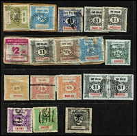 Lot 332 [3 of 3]:NSW with 1891 3d 4d & 9d, later pre-decimals to 2/- & 3/-, decimals to $5, also Victoria with few pre-decimals to 6d & 9d, decimals to $5, Queensland decimals to $5; mixed condition. (80)