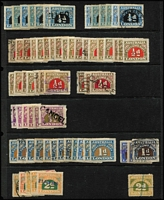 Lot 330 [2 of 4]:Customs Duty: array on Hagners with to 8d, 9d, 11d & 1/- and Surcharges to 14c on 9d x2, plus duplicated low values and two covers. (100+ plus 2 covers).