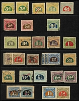 Lot 330 [1 of 4]:Customs Duty: array on Hagners with to 8d, 9d, 11d & 1/- and Surcharges to 14c on 9d x2, plus duplicated low values and two covers. (100+ plus 2 covers).