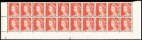 Lot 834 [3 of 4]:1966-73 QEII Definitives Plate blocks of 20 with 4c red Helecon paper Plate #16 to #28 selection, with or without dashes x33 items, incomplete with some duplication including Pl #17 lower x2; also 1c brown Pl #4 top right x2; most units fresh MUH, Cat $1,250. (100s)