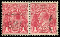 Lot 234 [1 of 4]:1d Reds Array with Single Wmk mostly Rough Paper x 51 (perf 'OS' x8 & a single Perf 'OS/NSW'); also LMult Wmk 1d x22 (perf 'OS/NSW' x2 & a single perf 'OS'); LMult alone, Cat $500+. (77)