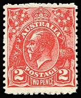 Lot 865:2d Red Postal Forgery on unwatermarked P11 gummed paper BW #103cc, fresh MUH, Cat $1,500. Ceremuga Certificate (2009).