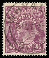 Lot 737 [1 of 4]:4½d Violet Collection with Brusden-White listed varieties BW #119d,ea,f,g,k, l,n,p,r,s,t,va,vc&vef, also other plated & unplated flaws, plus perf 'OS' x2 and a range of shades. Difficult group to assemble, mostly fine, Cat $1,000+. (42)