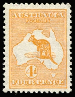 Lot 26:4d Orange (Aniline) BW #15B, well-centred, fine mint, Cat $2,000. Drury Certificate (2017).