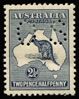 Lot 547 [2 of 2]:2½d Blue Perf 'OS' variety Offset, BW #11bc, few nibbed perfs, well centred mint, Cat $400.