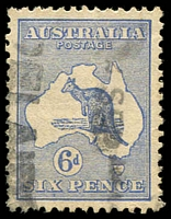 Lot 564:6d Blue Die II variety Watermark inverted BW #19a, well centred, lightly struck parcels cancel, Cat $275.