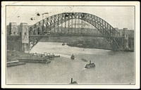 Lot 286 [2 of 2]:1932 2d Sydney Harbour Bridge BW #146 tied by Harbour Bridge '1932/20MAR' Opening Celebrations slogan cancel to PPC (few corner wrinkles) showing Harbour Bridge, addressed to WCS founder John M Gower at his Seaton Park address.
