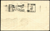 Lot 778 [2 of 2]:1938-66 ½d Kangaroo P13½x14 BW #178 pair on 1939 (Mar 15) Arnold, Wheeler & Co printed matter rate cover to France, Paris arrival backstamp, fine condition. Unusual usage.