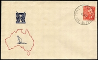 Lot 768:1948 2½d Farrer tied by Port Melbourne '12JY48' FDI datestamp to generic Sinclair FDC. Fine unaddressed.