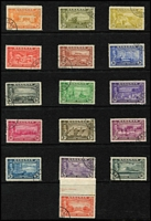 Lot 3 [4 of 4]:Bahamas 1860s-1960s Array mint & used including 1877 Wmk Crown CC 1d Britannia mint SG #33, 1911-19 MCA 2/- & 3/- Staircase used, 1921-29 Script CA Staircase set mint, mint selection of KGV War Tax and Special Delivery issues, KGVI 1938-52 5/- x4 & £1 used, 1948 Tercentenary set used, QEII 1954-63 set mint & used; generally fine, Cat £600+. (130+)