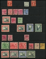 Lot 3 [1 of 4]:Bahamas 1860s-1960s Array mint & used including 1877 Wmk Crown CC 1d Britannia mint SG #33, 1911-19 MCA 2/- & 3/- Staircase used, 1921-29 Script CA Staircase set mint, mint selection of KGV War Tax and Special Delivery issues, KGVI 1938-52 5/- x4 & £1 used, 1948 Tercentenary set used, QEII 1954-63 set mint & used; generally fine, Cat £600+. (130+)