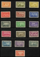 Lot 4 [3 of 3]:Bahamas KGVI Mint Selection with 1938-52 to 5/- x11 including three 1938 original printings SG #156 (thick paper, characteristic streaky gum) and £1 x4 (one a 1938 original printing SG #157), 1942 Landfall x2 sets and 1948 Tercentenary set; generally fine mint, Cat £1,400+. (145)