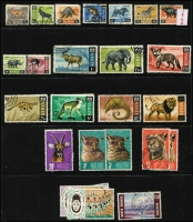 Lot 7 [3 of 3]:British Africa Array on Hagners mostly 1960s-80s era with sets, parts set & odd values mostly used with material from KUT, Kenya, Tanzania (including a few complete sheets MUH) and Zambia; also a little Montserrat. (few 100s)