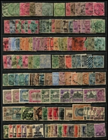 Lot 9 [2 of 4]:British Commomwealth array on Hagners mostly QV-early QEII era with Barbados, Burma, GB, India & States, St Helena, etc; some useful pickings, condition variable, mostly fine. (few 100s)