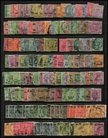 Lot 9 [3 of 4]:British Commomwealth array on Hagners mostly QV-early QEII era with Barbados, Burma, GB, India & States, St Helena, etc; some useful pickings, condition variable, mostly fine. (few 100s)