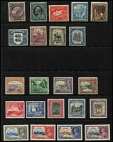 Lot 31 [3 of 5]:Cyprus 1880s-1960s on Hagners mint or used with QV 1881 ½d on GB 1d red Pl 205 mint, 1881 Crown CC ½pi x2, 1pi & 2pi used, 1882-86 Crown CA Die I ½pi dull green & 30pa mint, used to 6pi x4 & 12pi, 1882 Crown CC '½' on ½pi SG #23 used, 1892-96 Die II 9pi & 18pi mint, 6pi sepia & green & 9pi used, 1902 KEVII Crown CA ½pi, 30pa, 1pi, 9pi & 12pi mint, 1904-10 MCA to 9pi x3, 12pi & 18pi used, KGV 1912-15 MCA to 9pi x2, 12pi & 18pi used plus mint 9pi x2 (both shades), 1921-23 Script CA to 6pi & 9pi mint, 1924-28 to 90pi mint plus 12pi & 18pi used, 1928 Pictorials to 45pi mint & used to 18pi, 1934 Pictorial set mint, 1935 Jubilee set mint, KGVI Defintives to £1 used, QEII including 1962 set to £1 MVLH, etc; few condition issues, generally fine. Good lot. (few 100s)