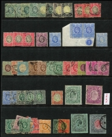 Lot 32 [1 of 4]:East Africa & KUT array on hagners mostly used with East Africa  KEVII 1903-07 to Crown CC 1r & MCA 2r including MCA 2½a blue Plate '1' pair mint, KGV 1912-21 MCA 2r, 1922-27 4/- grey mint, KGVI to £1, 1948 Silver Wedding mint, QEII to £1 x2 & Officials to 10/-; mixed condition. (few 100s)