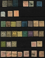Lot 46 [2 of 4]:Italian States array on Hagners unused & used with usual mix of genuine stamps, reprints and forgeries; condition rather mixed. Worthy of close inspection. (160)