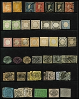 Lot 46 [3 of 4]:Italian States array on Hagners unused & used with usual mix of genuine stamps, reprints and forgeries; condition rather mixed. Worthy of close inspection. (160)