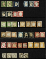 Lot 46 [1 of 4]:Italian States array on Hagners unused & used with usual mix of genuine stamps, reprints and forgeries; condition rather mixed. Worthy of close inspection. (160)