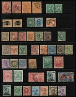 Lot 47 [3 of 4]:Italy 1862-1920s Array on Hagners with 1862 Newspaper issue 2c yellow & 2c orange-buff unused, 1863-65 2l pale scarlet x2 used, 1870-1925 Postage Dues to 5l & 10l x2, 1875 5l Official unused, 1884 Parcel Post 1l25c x2 used and 1890 Surcharges 2c on 1l25c x2 unused & 2c on 1l75c used, 1910 Naples/Sicily Plebiscite 5c+5c used & 10c+10c mint, 1910 Southern States Plebiscite set mint (Cat £465), etc; collection variable, many are fine. (140)