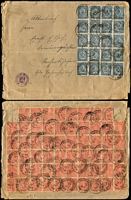 Lot 472 [3 of 5]:1910s-20s Era Covers all commercial including inflation era with lots of multifrankings, good variety of postal markings. Good lot and sure to reward personal inspection.