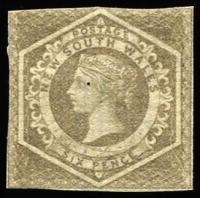 Lot 1126 [2 of 2]:1854-59 Imperf Large Diadems Wmk Double-Lined Numeral 6d grey (couple tiny nicks at base) & 6d greyish-brown SG #94,96, variable margins, unused, Cat £3,400 as mint. (2)