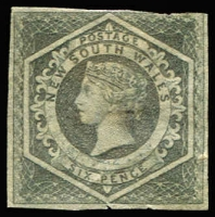 Lot 1126 [1 of 2]:1854-59 Imperf Large Diadems Wmk Double-Lined Numeral 6d grey (couple tiny nicks at base) & 6d greyish-brown SG #94,96, variable margins, unused, Cat £3,400 as mint. (2)