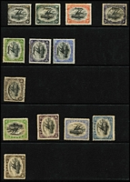 Lot 463 [3 of 4]:1901-1930s Collection with Queensland 'used in' with 'BNG'-in bars cancels x4, 1901-05 BNG to 1/- (x2) mint plus a few mint or used duplicates, 1906 Large 'Papua' 4d (trimmed), 6d & 1/- mint plus 2d used, 1907 Small 'Papua' ½d, 2d & 2½d mint plus 4d used, few Small & Large 'PAPUA' to 4d or 6d, Monocolours including 2½d perf 'OS' mint, Bicolours & Surcharges to 1/3d on 5/-, 1932 £1 Pictorial mint (small thins), etc; condition quite variable though many are fine. Inspection recommended. (80)