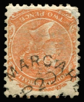 Lot 1213:Mount Margaret: (A3) fine Type UF3 part strike on 2d orange, [Rated 4R].  PO c.-/10/1863; renamed Peake PO c.-/4/1873.