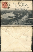 Lot 426 [1 of 3]:1906 Pictorial Envelopes x3, with views of 'Flinders Street & Viaduct', 'Fitzroy Gardens' & 'Botanic Gardens; usual variable condition, all postally used. (3)