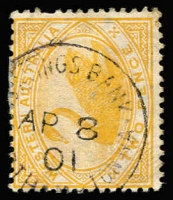 Lot 1346:Northampton: (B2) large-part strike of Type SBii 'SAVINGS BANK/AP8/01/[NOR]TH[AMP]TON WA' on 2d Swan, ERD.  PO 20/11/1866.