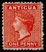 Lot 1446:1872 QV Wmk Crown CC 1d scarlet P12½ Watermark inverted SG #14w, fine unused. Cat £200.