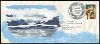 Lot 903:1966 5c Banding Elephant Seals SG #11 tied by Macquarie Island '4DEC1968' FD cancel to FDC with J.Green hand-painted watercolour cachet, typed address.