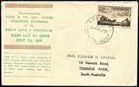 Lot 952 [1 of 2]:Bergen 1955 3½d Nursing & 3½d Cobb FDCs, each with matching addresses printed by Bergen. (2)