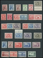 Lot 212 [1 of 2]:1913-80s Mostly Mint Array with 6d Engraved Kooka, 1d Roo Wmk Inverted (nibbed perf), KGV LMult 1d red, 6d Large Kooka x2, NSW Anniv set, etc; also few decimals with Navigators and Paintings to $10 MUH, few blemishes, generally fine. (50)