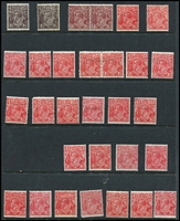 Lot 170 [2 of 2]:1½d Accumulation various watermarks, mostly 'Reds' with good range of shades mint or MUH, few condition issues, generally fine. (32)