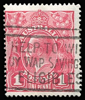 Lot 126:1d Bright Carmine-Pink (G29) Smooth Paper BW #71U, slogan cancel, Cat $100. Starling Certificate (2018).