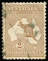 Lot 19 [2 of 4]:Selection with [1] 2nd Wmk 2/- with lightly struck parcels cancel; [2] 3rd Wmk 5/- parcels cancel; [3] SMult 5/- Perf 'OS' CTO; [4] Cof A 10/- with crease & 2mm perf groove tear at top right; Cat $800+ (ex CofA 10/-). (4)